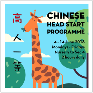 June 2018 Chinese Head Start Programme