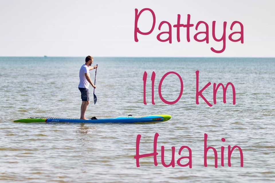 Still Using Ferry from Pattaya to Hua Hin? Try Paddle Board.