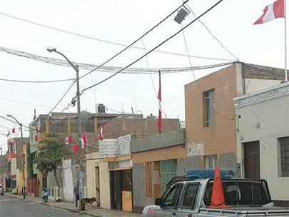 Embanderamiento  Fiestas Patrias Huaral