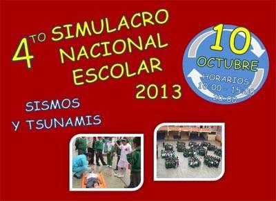 cuarto simulacro nacional escolar 2013