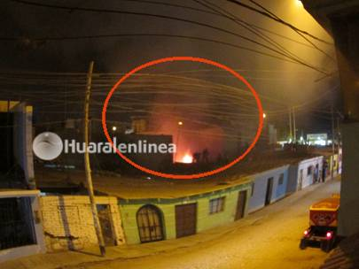 incendio Huaral