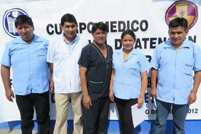 cuerpo medico hospital red de salud huaral chancay