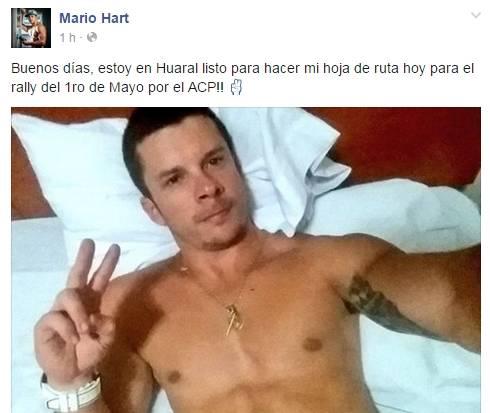 Mario Hart se encuentra en Huaral www.huaralenlinea.com