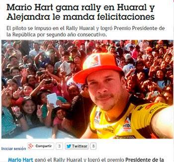 Rally  en Huaral  aún es noticia a nivel nacional.