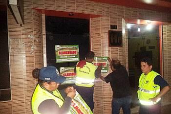 Clausuran locales nocturnos que funcionaban incumpliendo la ley.