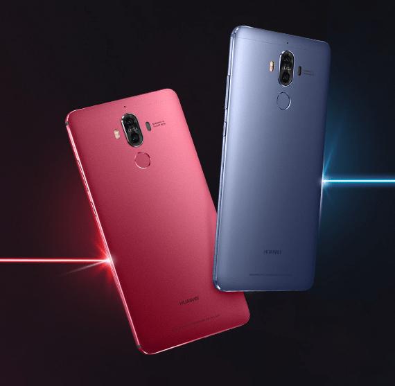 Huawei Mate 9 piros és kék színben