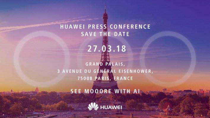 Március 27-én Párizsban debütál az új Huawei csúcsmodell