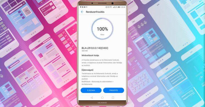 Arcfelismerést hozott a Huawei Mate 10 Pro frissítése