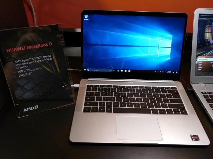 """MateBook D 14"""": AMD-s notebook a Huawei-től"""