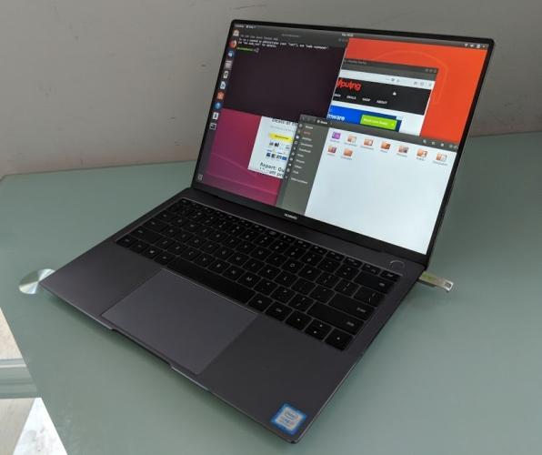 Az Ubuntu is megy a MateBook X Pro notebookon