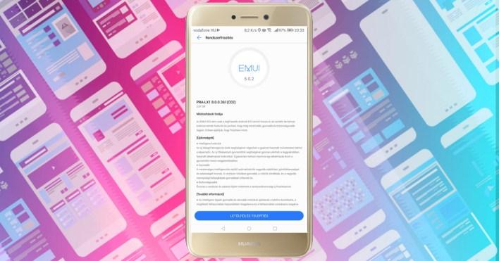 Huawei P9 Lite 2017 Android 8.0 Oreo frissítés
