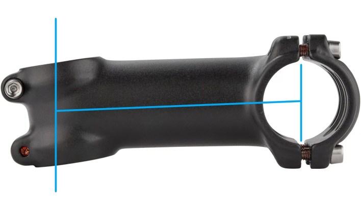 How to measure a bike's stem length