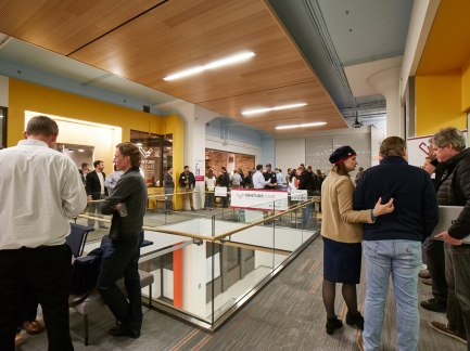 On the night of Karen's visit to Venture Café St. Louis over 575 people filtered through the event.