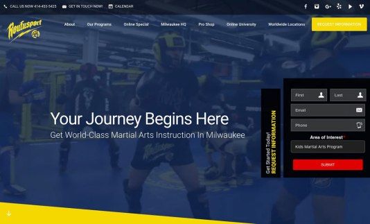 Website for Roufusport Mixed Martial Arts Academy
