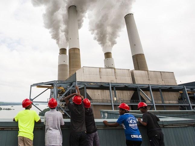 Students of the SciTech program explore the Duke Energy plant