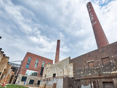 The now renewed Bailey Power Plant, which occupies the north side of the complex, sits adjacent to the next phase of development—the south facing building that will soon be developed by Front Street Capital.