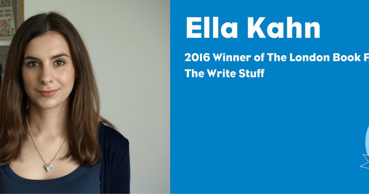 Ella Kahn at DKW signs Natalie Hart, winner of the LBF's The Write Stuff