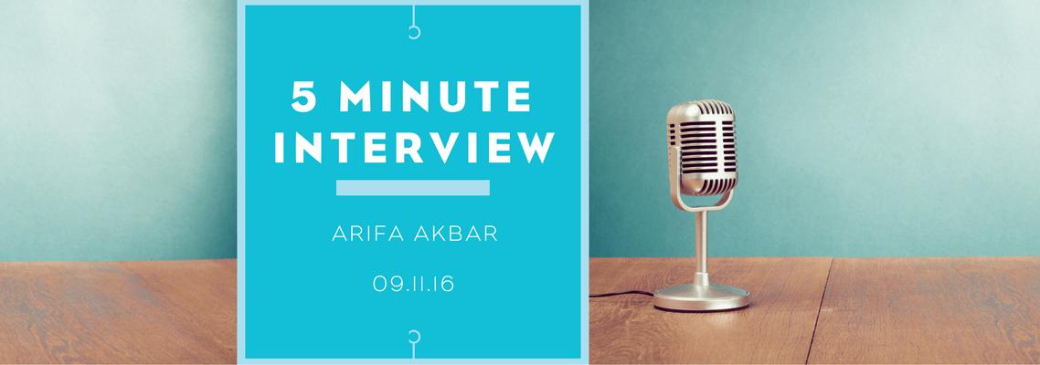 5 minutes with Arifa Akbar