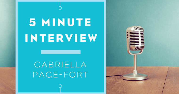 5 minutes with Gabriella Page-Fort
