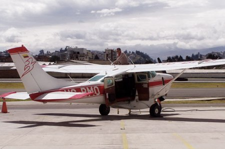 Airplane that flew the generator