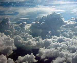 What MAF Pilot Jim Manley sees as he flies above the clouds