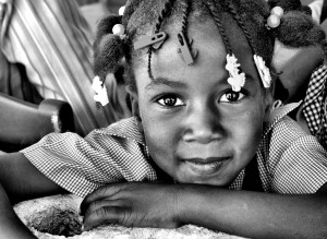 One of the girls enrolled at the school run by Lemuel Ministries.