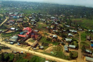 Aerial view of Bunia
