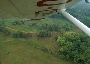 Banking to land in a MAF Cessna 206 in Africa