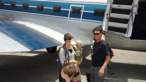 The Schandorff family arrives in Haiti.