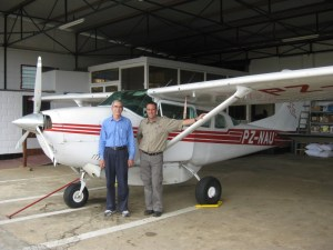 Dan Rogers (left) with Andy Bejkirk, program manager of MAF-Suriname.