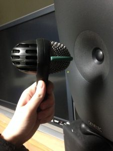 The mic was placed about 5 inches from the center of the driver. The rotations are relatively quick.