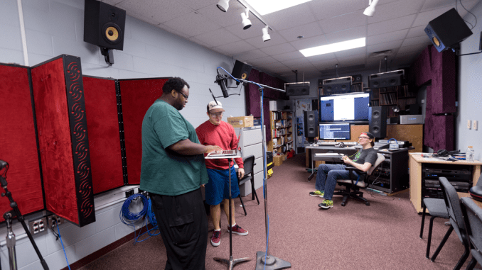 Recording Session in Walker 212