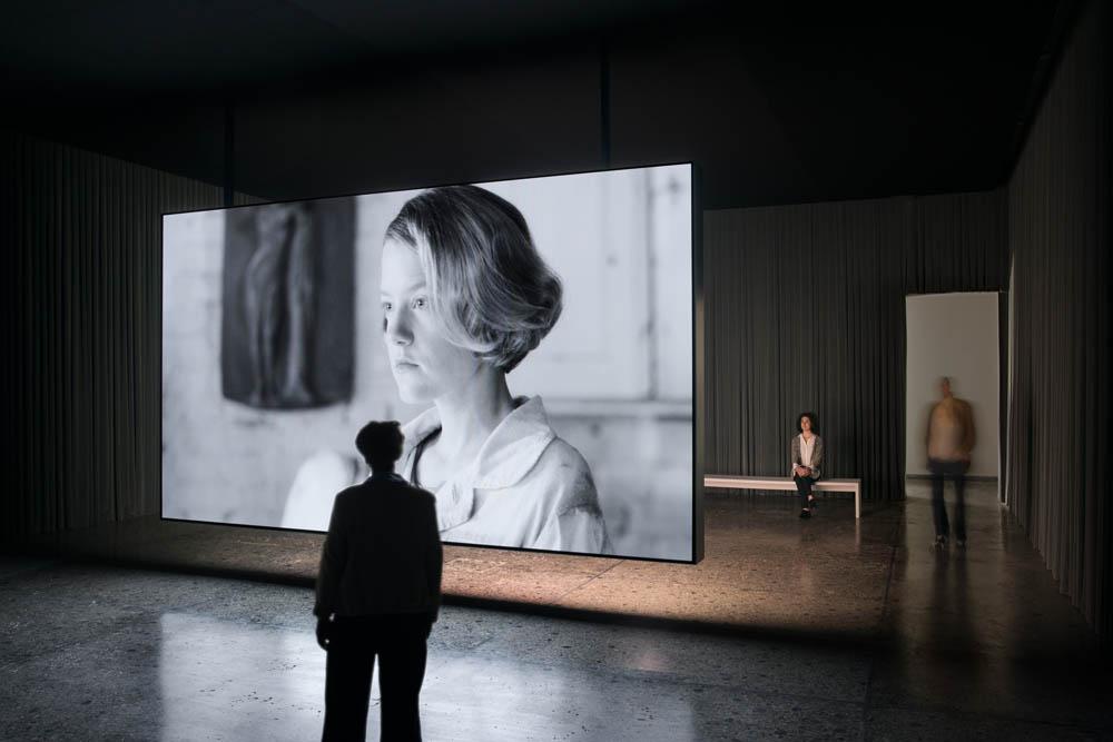 Installation view, Swiss Pavillion, 57th Venice Biennial.Courtesy: Tanya Bonakdar Gallery, New York and Lora Reynolds Gallery, Austin. Photo: Ugo Carmeni
