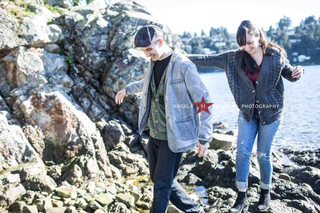 Whytecliff Park engagement session - Angela Hubbard Photography