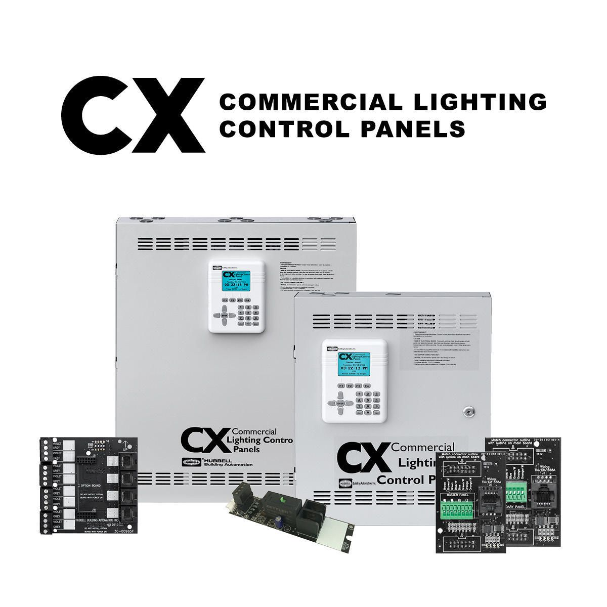 cx commercial lighting control panels