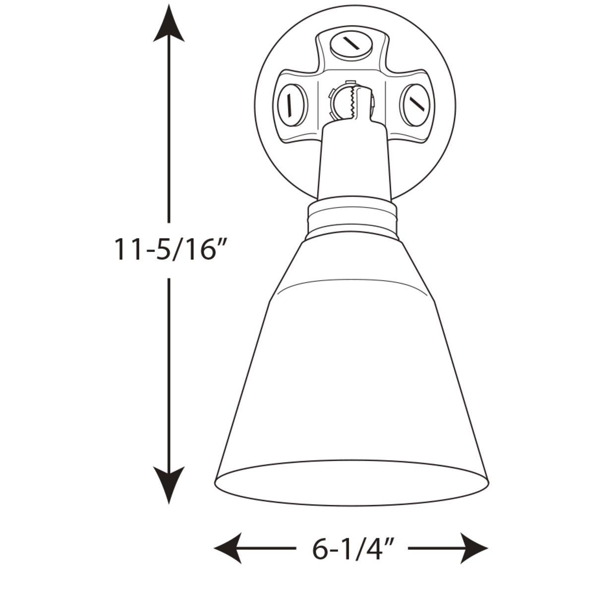 One Light Adjustable Swivel Flood Light