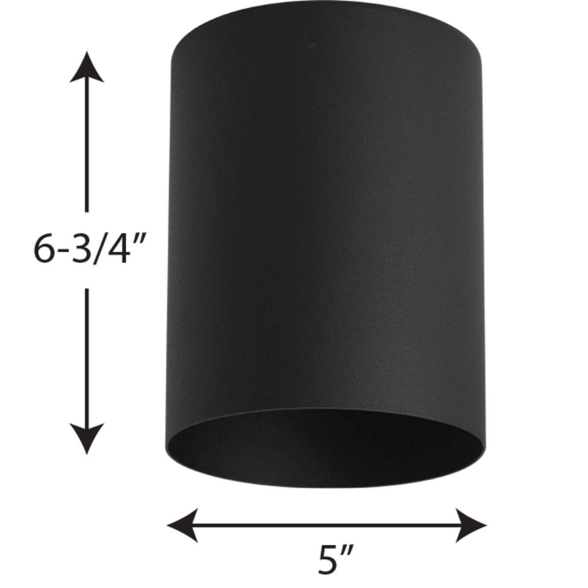 5 black outdoor ceiling mount cylinder