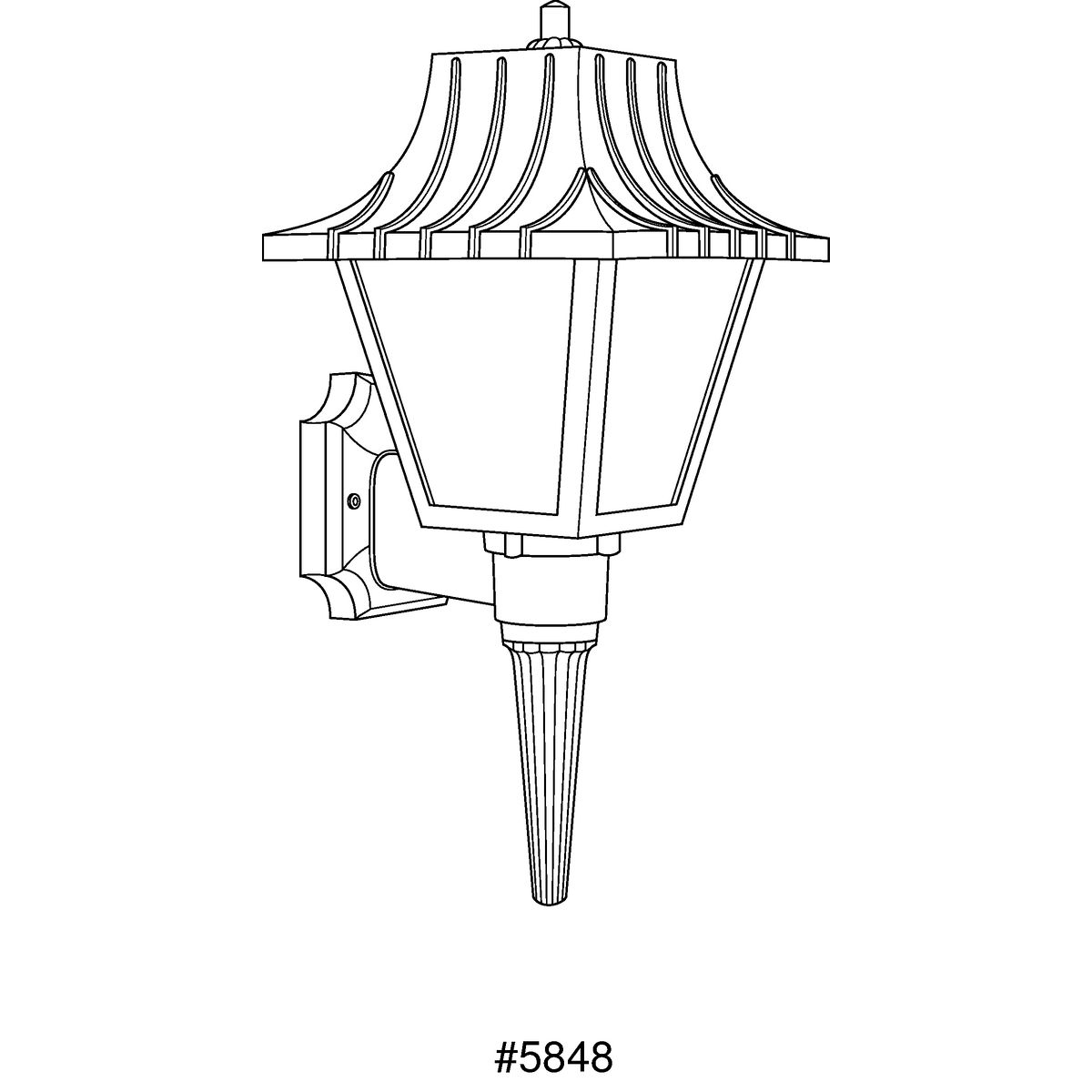 Non Metallic One Light Polycarbonate Collection Lantern