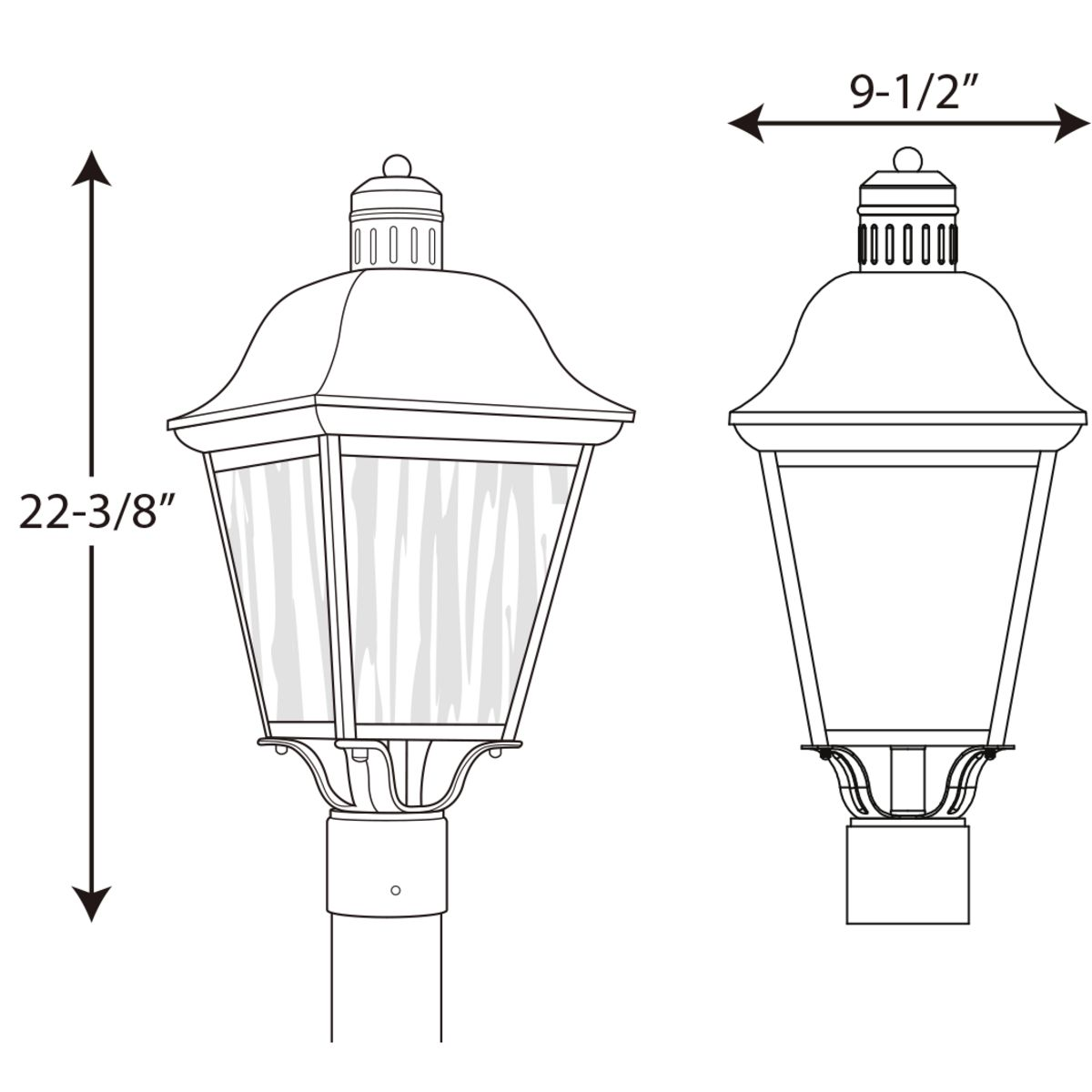Andover Collection Cfl One Light Post Lantern