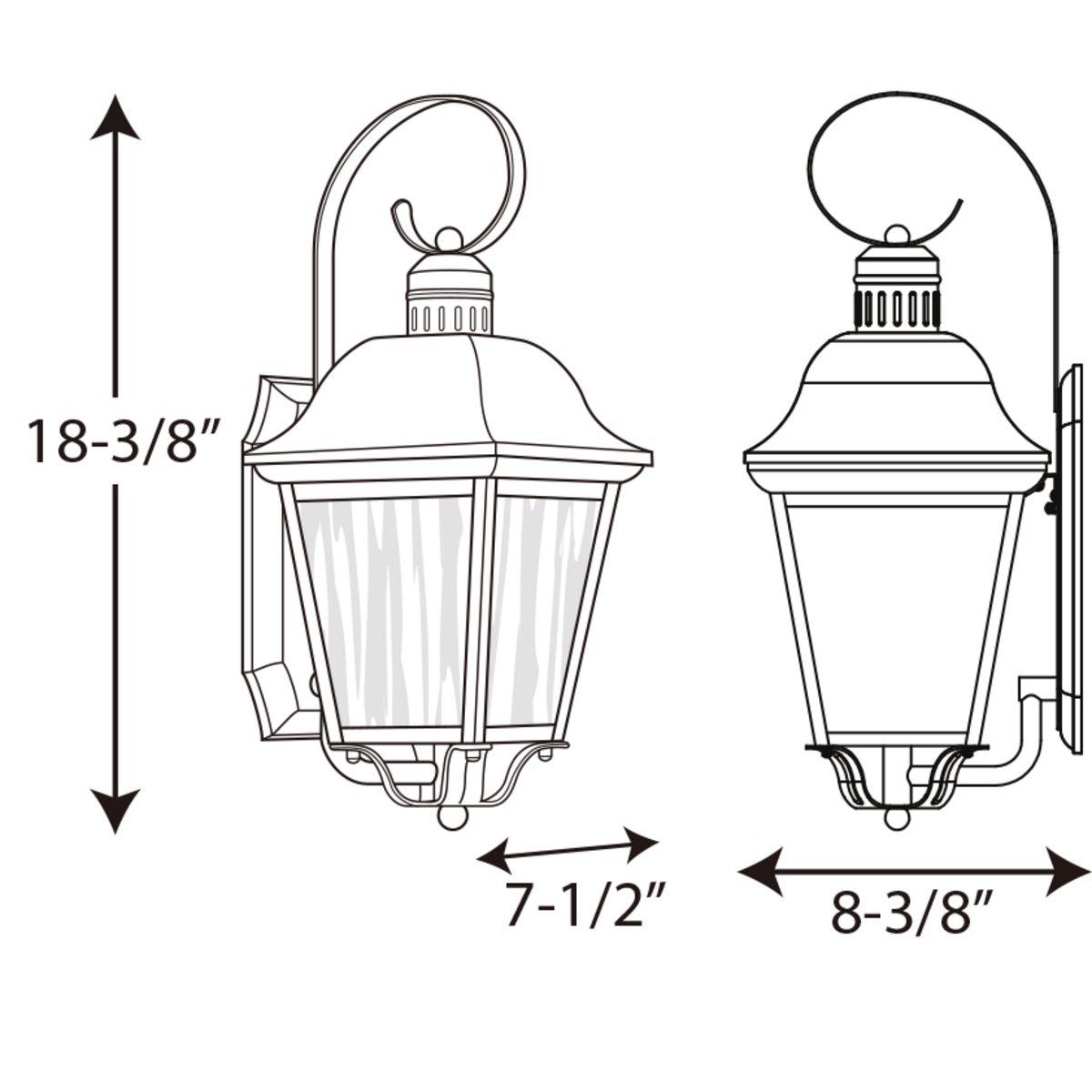 Andover Collection Cfl One Light Medium Wall Lantern