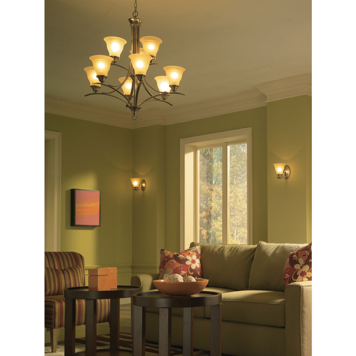 trinity collection nine light brushed