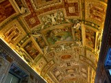One of the more simple halls in the Vatican Museum.