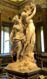 Astonishing marble sculpture by Bernini: Apollo and Daphne.