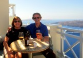 High altitude Santorini lunch.
