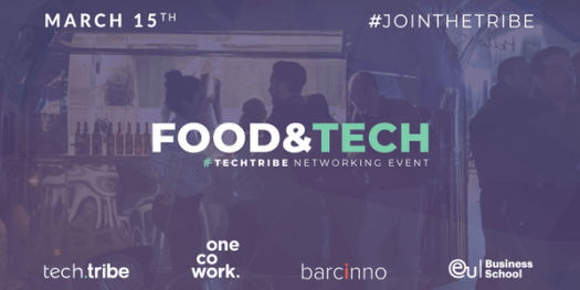 15% off TechTribe: food and tech panel