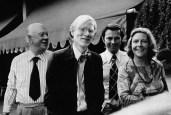 1973: Senator Franz (l.), Aenne und Hubert Burda mit Andy Warhol in Offenburg