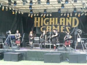 Band bei den Highlandgames in Angelbachtal