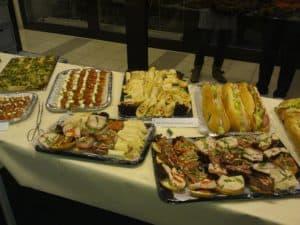 Foto vom Buffet des Samstag Abend