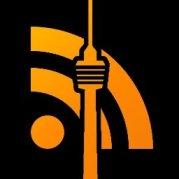 Logo der Iron Blogger Stuttgart - ein in das RSS Symbol integrierter Fernsehturm