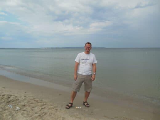 Bild von mir am Strand von Binz auf Rügen